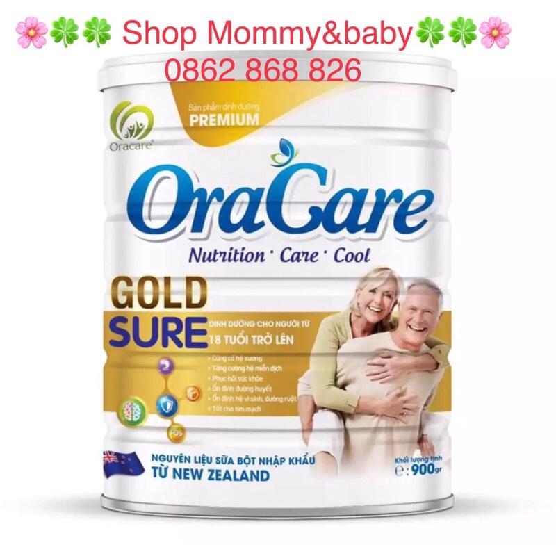 [Mã MKBC217 giảm 80K đơn 1tr] Sữa Oracare Gold sure 900gr ( date mới)