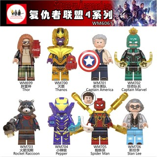 Minifigure siêu anh hùngMarvel Endgame mới nhất WM6061 thanos spiderman ironman