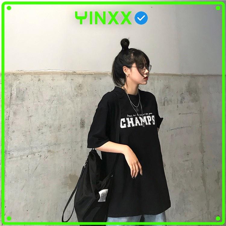 Áo thun tay lỡ Unisex Yinxx, áo phông form rộng ATL61