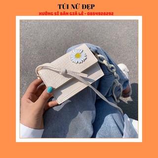 Túi xách nữ 💖Freeship💖 túi mini cúc hoạ mi LiLi kèm dây xích nhựa - túi đeo chéo nữ quảng châu hàng đẹp giá rẻ 2020