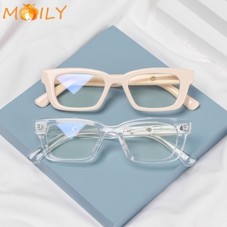 MOILY Fashion Anti-blue Light Glasses Radiation Protection Computer Goggles Square Frame Eyewear Vision Care Men Women Blue Light Blocking Retro Classic Vintage Eyeglasses/Multicolor
