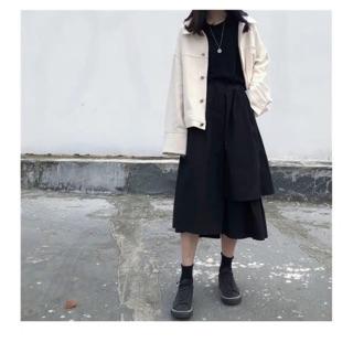Chân váy kaki form dài hình thật vải bao đẹp