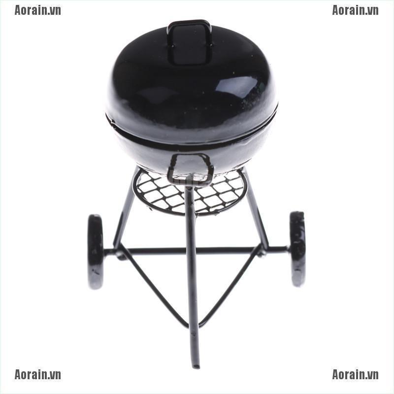 Lò nướng thịt BBQ ngoài trời tỉ lệ 1:12 độc đáo cho nhà búp bê