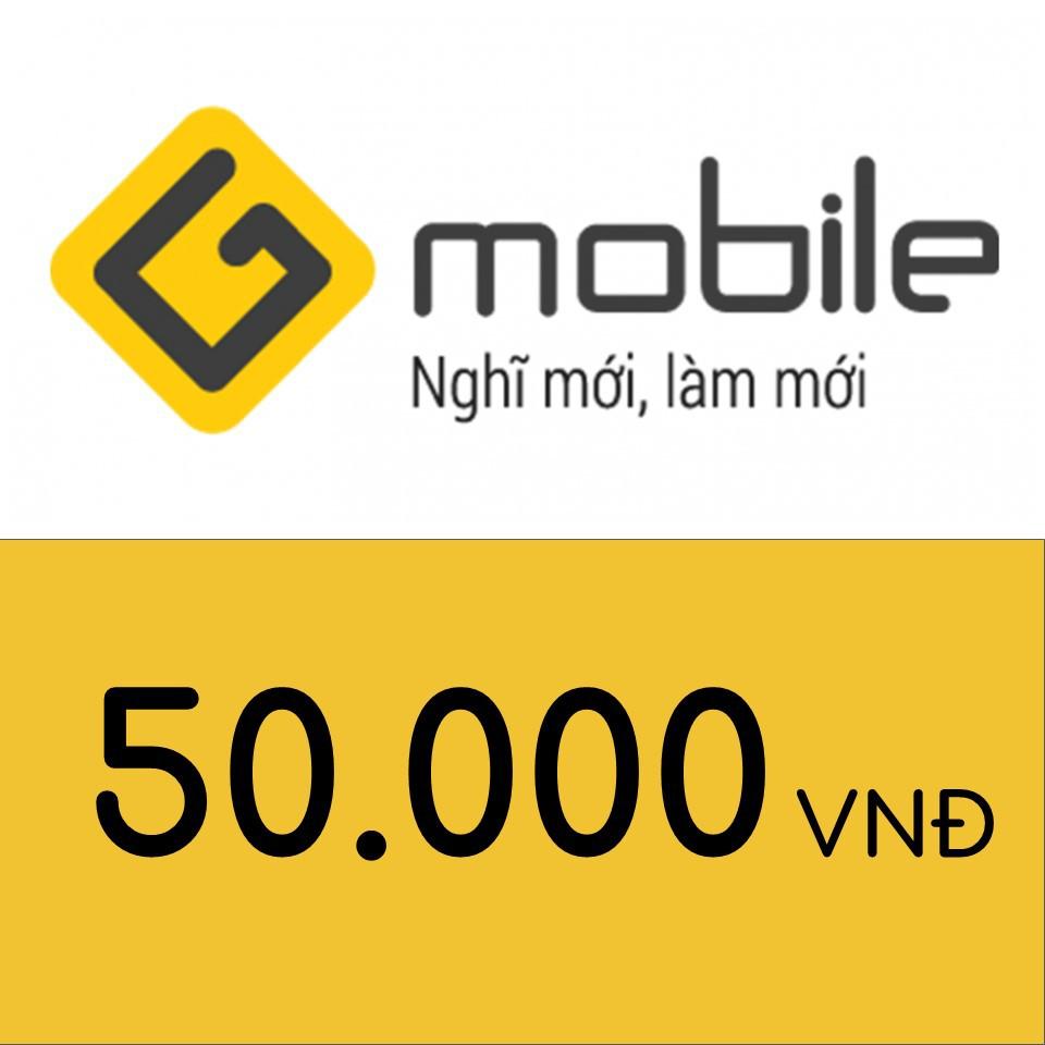 Nạp điện thoại Gmobile 50K