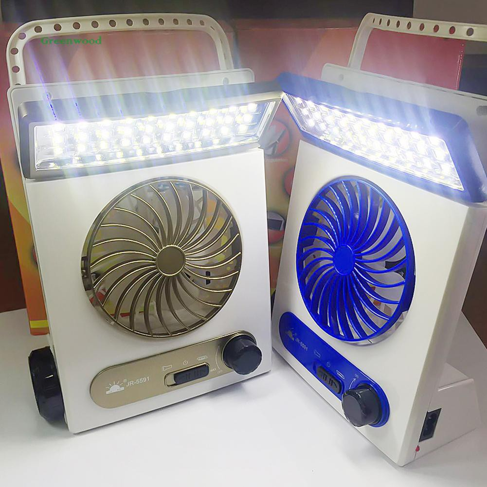 GREEN Portable Mini Cooling Fan Air Cooler Blower Solar