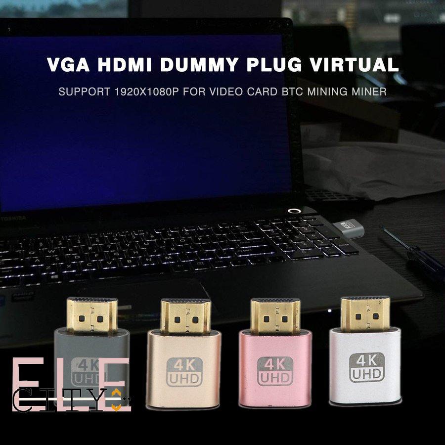 Ele】⚡⚡Đầu cắm cổng HDMI giả lập màn hình ảo 4K 3840x2160 60Hz
