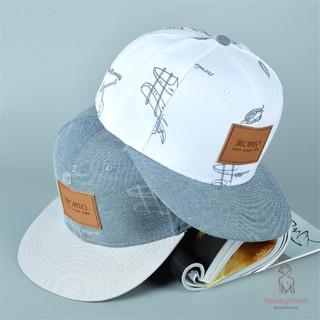 【☪BR】 Fashion Cotton Cowboy Hat Letters Stickers Casual Hip-hop Baseball Cap Snapback Hats for Men Women