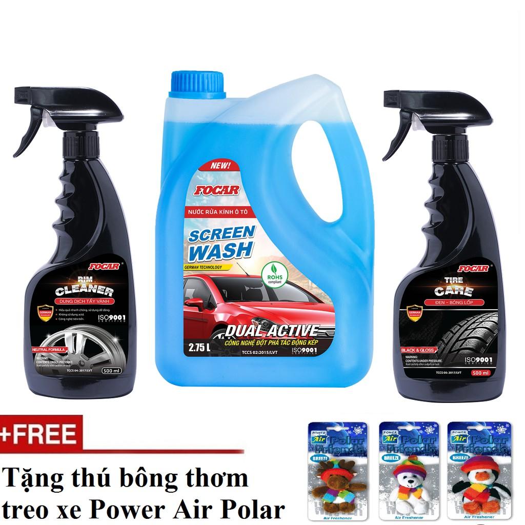 Bộ 3 sản phẩm Tẩy vành mâm lazang+Nước rửa kính 2.75L+Đen bóng lốp Ô tô Focar (Tặng thú bông thơm) - 3351085 , 1190482753 , 322_1190482753 , 278000 , Bo-3-san-pham-Tay-vanh-mam-lazangNuoc-rua-kinh-2.75LDen-bong-lop-O-to-Focar-Tang-thu-bong-thom-322_1190482753 , shopee.vn , Bộ 3 sản phẩm Tẩy vành mâm lazang+Nước rửa kính 2.75L+Đen bóng lốp Ô tô Focar