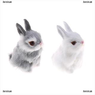 MT Imitate hair White Furry Rabbit Nap Toys Simulation Animal Model Decoration NY
