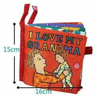 Sách vải I love my grandma của Jolly baby