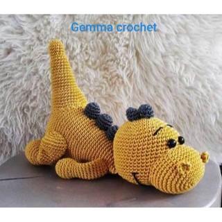 Chú khủng long ngủ lười bằng len handmade (order)