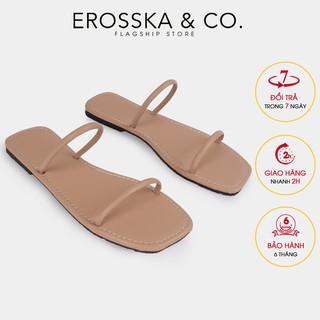 Dép đi biển thời trang Erosska 2021 quai dây mảnh màu nude - DE041 thumbnail