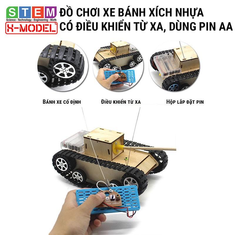 Đồ chơi thông minh, sáng tạo STEM xe đồ chơi bánh xích có điều khiển từ xa X-MODEL ST12 cho bé [Giáo dục STEM, STEAM]