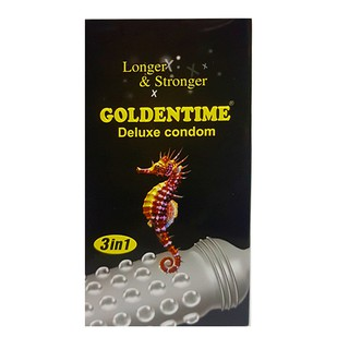 Bao cao su Goldentime 3 in 1 Hộp 12 thumbnail