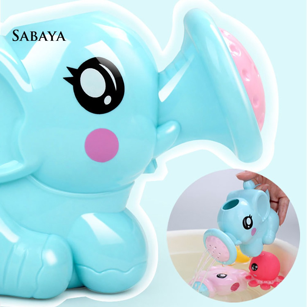 ♝♝♝Lovely Cartoon Elephant Sprinkler Waterwheel Baby Kids Swimming Tub Bathing Toy