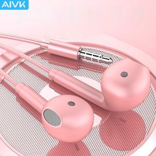 Tai nghe Aivk tích hợp micro âm trầm hifi nâng cấp với giắc cắm 3.5mm đa năng 6 màu tùy chọn