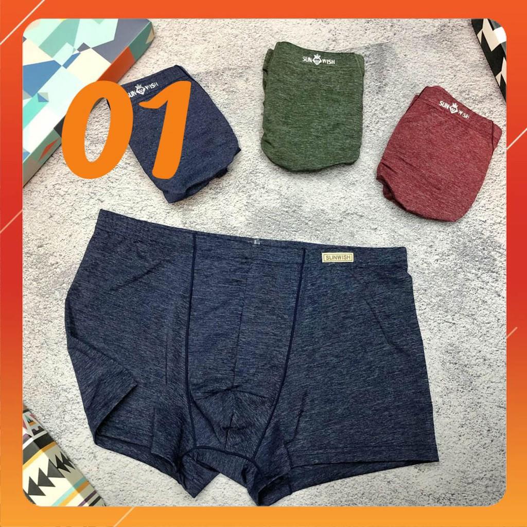 [GIẢM 60K - Mã TANN15S60] 100KG có size - COMBO 3 quần sịp đùi chất lạnh thông hơi nam xuất Nhật (sỉ inbox)