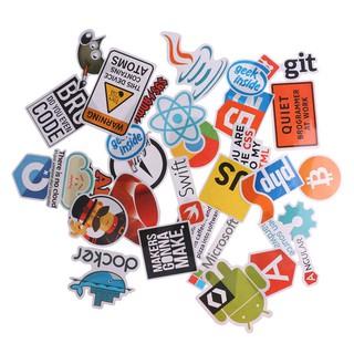 30Pcs Internet Bitcoin Java JS Docker Programmer Cloud Program Language Stickers