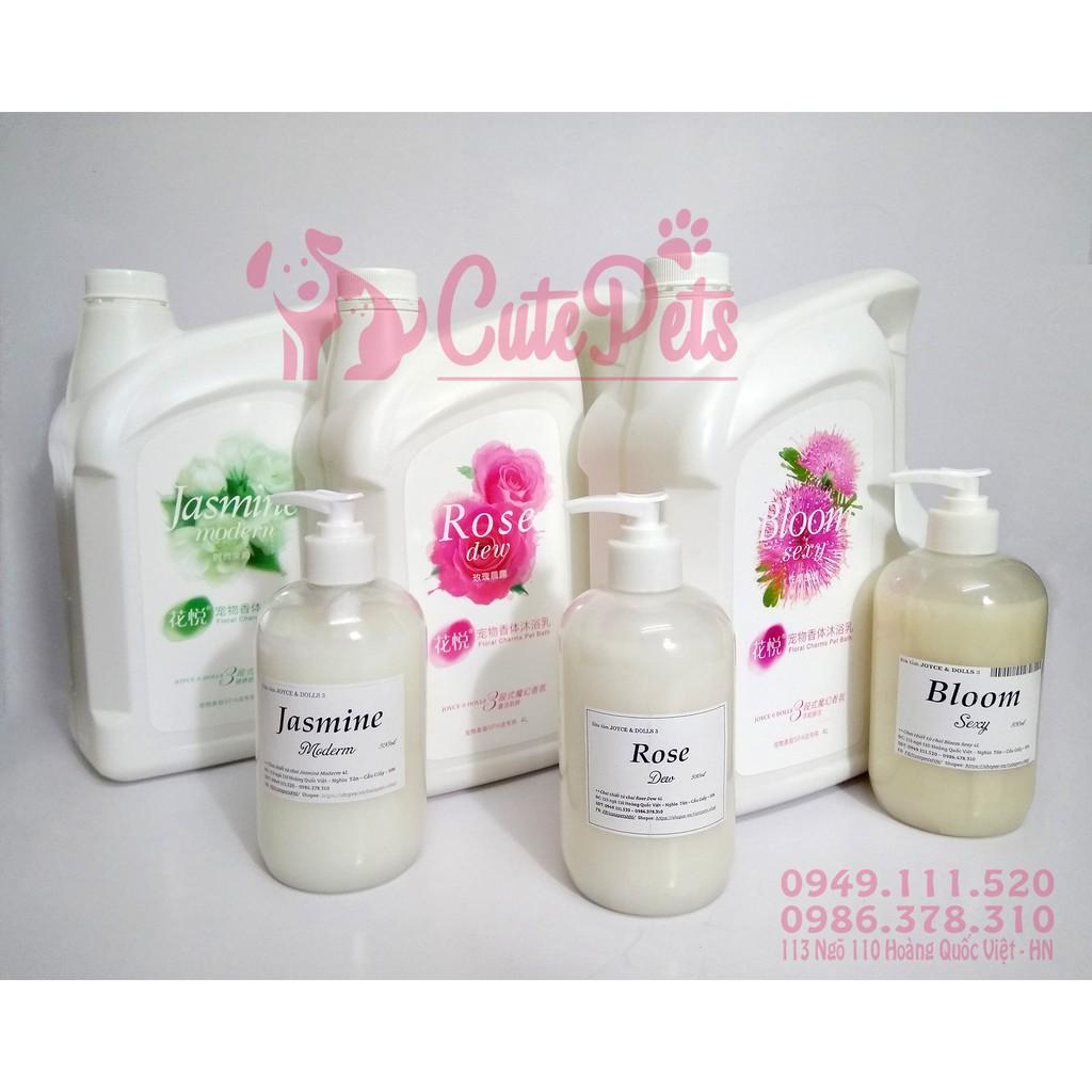 ? Sữa tắm hương hoa chai chiết 500ml cho chó mèo - BloomSexy, Rose, Jasmine - CutePets Phụ kiện chó