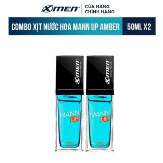 Combo 2 Xịt nước hoa hằng ngày X-Men Everyday Perfume Mann Up Amber 50ml chai thumbnail