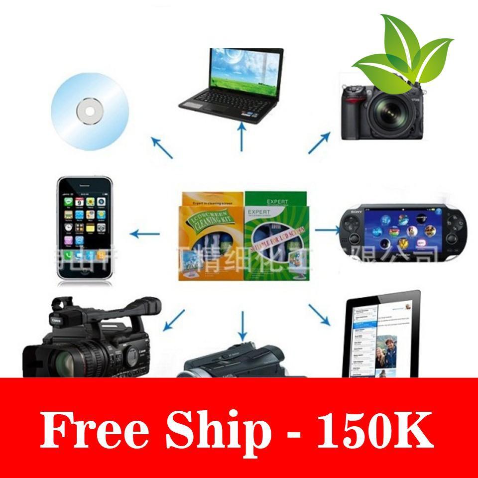 Freeship Bộ dụng cụ vệ sinh máy tính tivi 3 món Giá chỉ 76.000₫