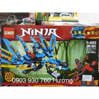LEGO ZIMO lắp ráp ROBOT RỒNG NINJA ( Xanh Dương )