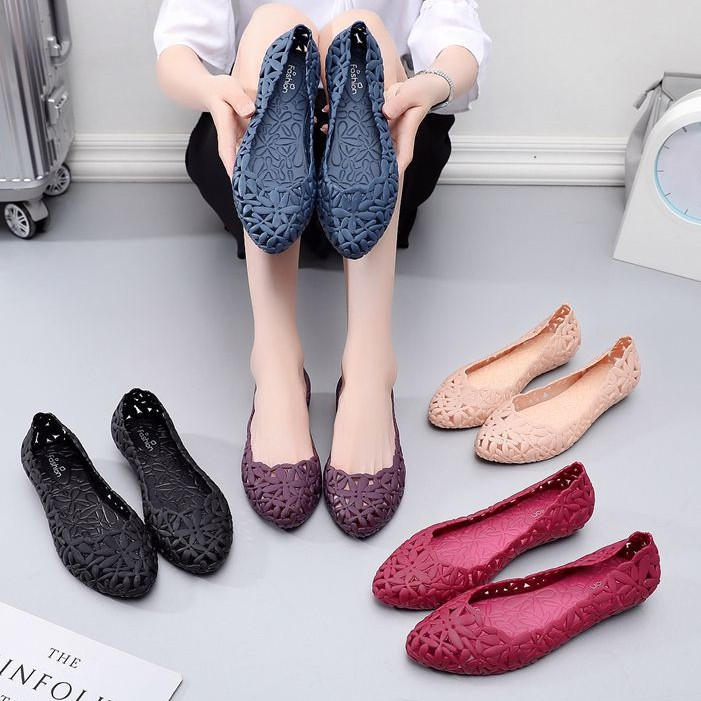 Giày nhựa đi mưa, giày búp bê 2.5cm chống trơn trượt size 36 đến 40 V176