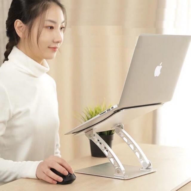 Giá đỡ laptop nhôm nguyên khối nâng cao Laptop, Macbook, máy tính bảng iPad có thể chỉnh độ cao T1 T5