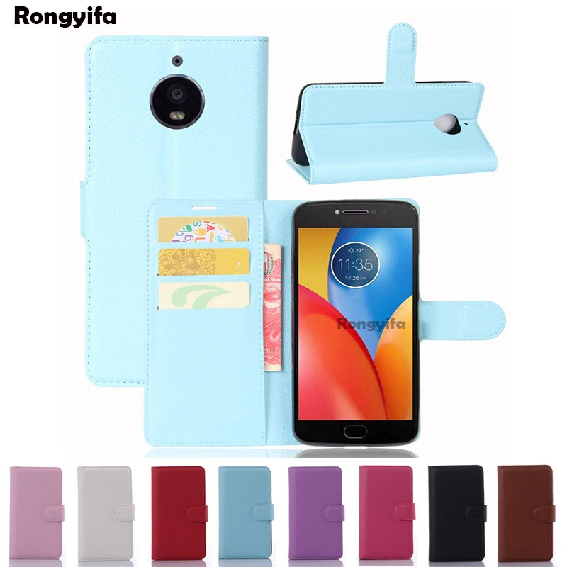 Motorola Moto E4 Plus Case Litchi Leather Wallet Flip Card Slots Stand Holder