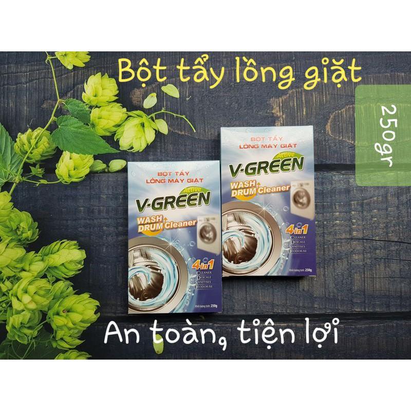 Bột tẩy lồng máy giặt Vgreen 4 trong 1 Hàng Việt Nam
