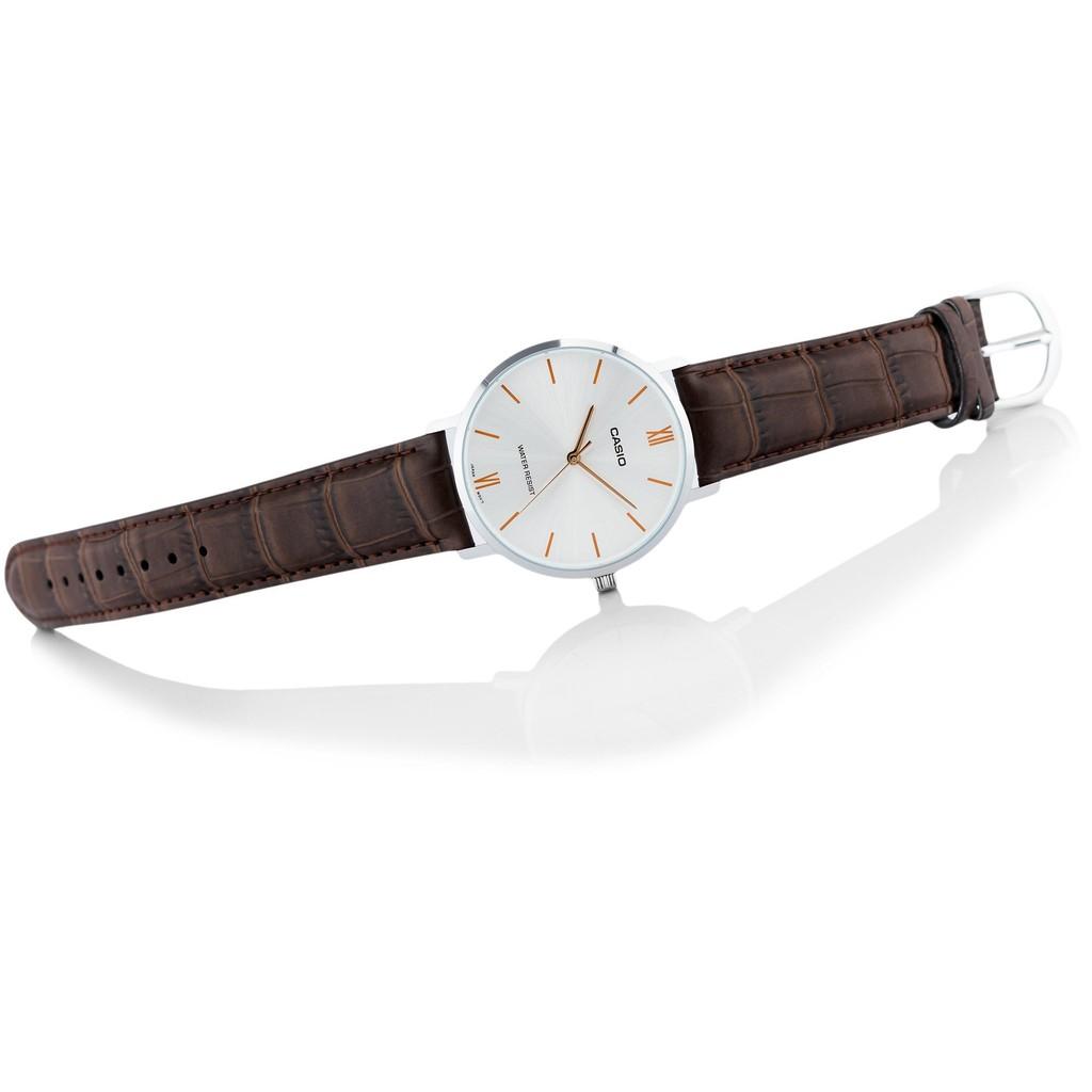Đồng hồ nam dây da Casio Standard chính hãng Anh Khuê MTP-VT01L-7B2UDF