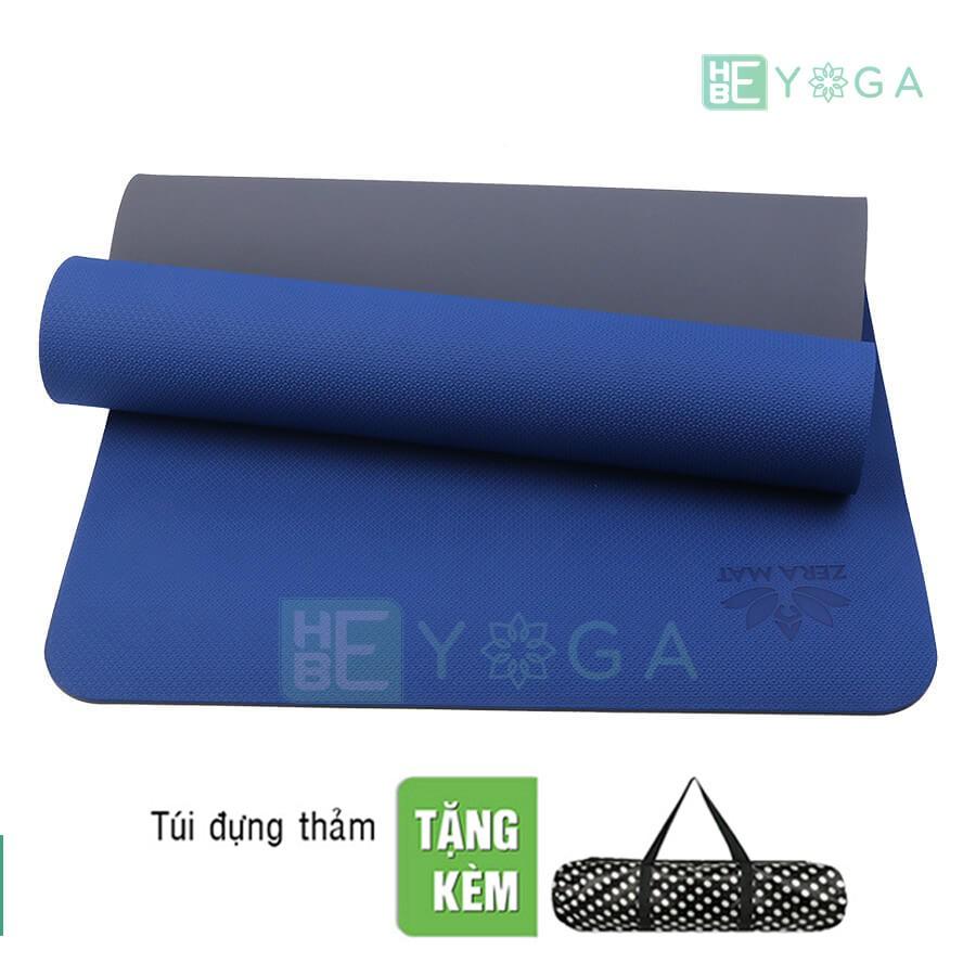 Thảm Tập Yoga Zera 6mm 2 Lớp Màu Xanh Coban Tặng Kèm túi