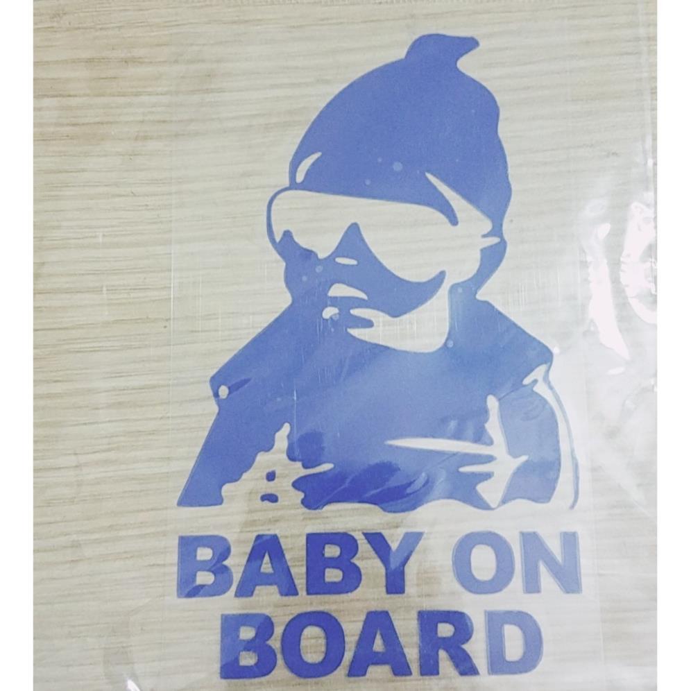 """Decal dán trang trí cửa sổ xe hơi hoạt hình """" Baby on Board """"- Better Car"""