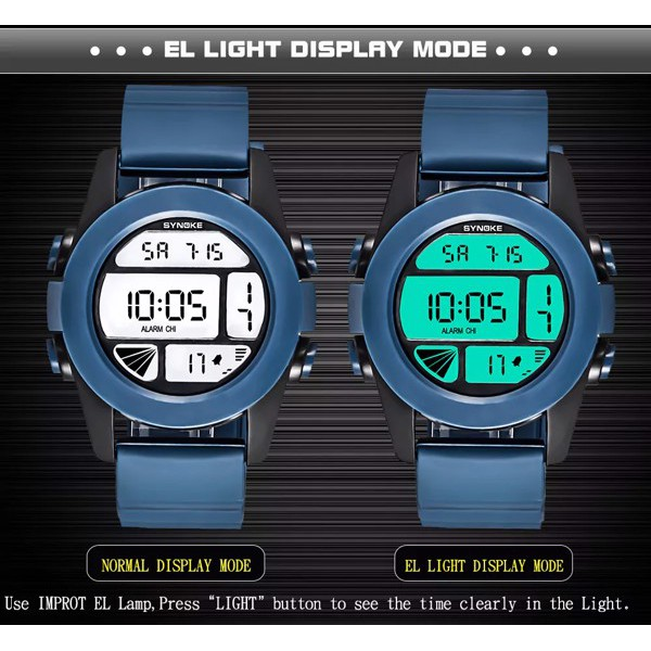 Đồng hồ trẻ em Synoke SY67286 dây cao su(Đen)