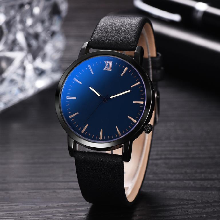 นาฬิกาควอทซ์นาฬิกาธุรกิจที่เรียบง่ายของผู้ชายนาฬิกา