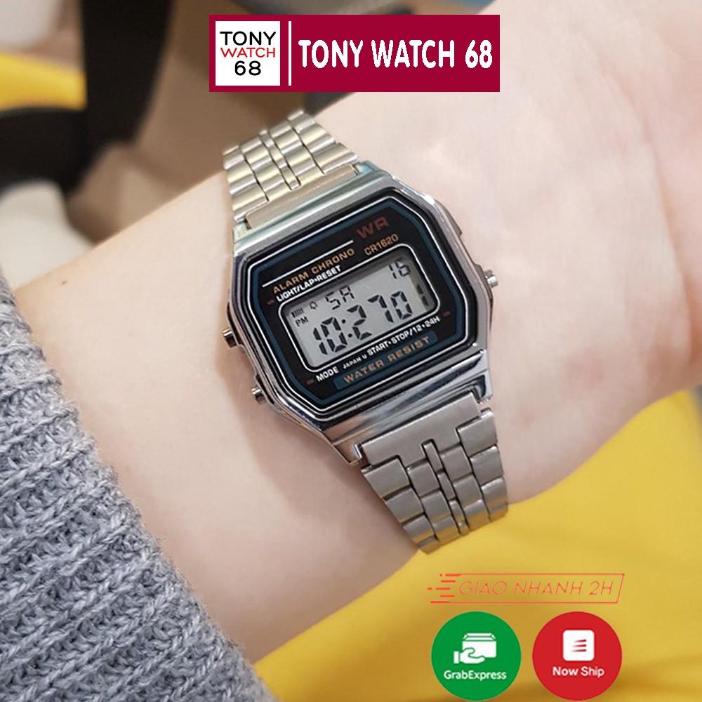 Đồng hồ điện tử đôi nam nữ WR đeo tay thông minh mặt vuông chính hãng Tony  Watch 68 chính hãng 155,000đ