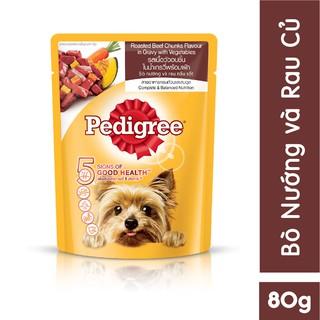 [Quà tặng] Thức ăn cho chó lớn dạng sốt Pedigree vị bò nướng và rau củ 80g thumbnail