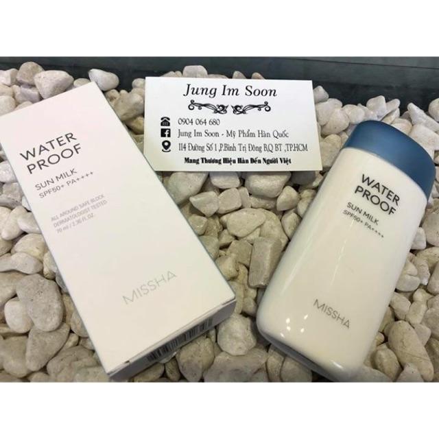 ☀️☀️Kem chống nắng Missha Water Proof Sun Milk SPF 50 PA+++ - 3165956 , 1317118608 , 322_1317118608 , 330000 , Kem-chong-nang-Missha-Water-Proof-Sun-Milk-SPF-50-PA-322_1317118608 , shopee.vn , ☀️☀️Kem chống nắng Missha Water Proof Sun Milk SPF 50 PA+++
