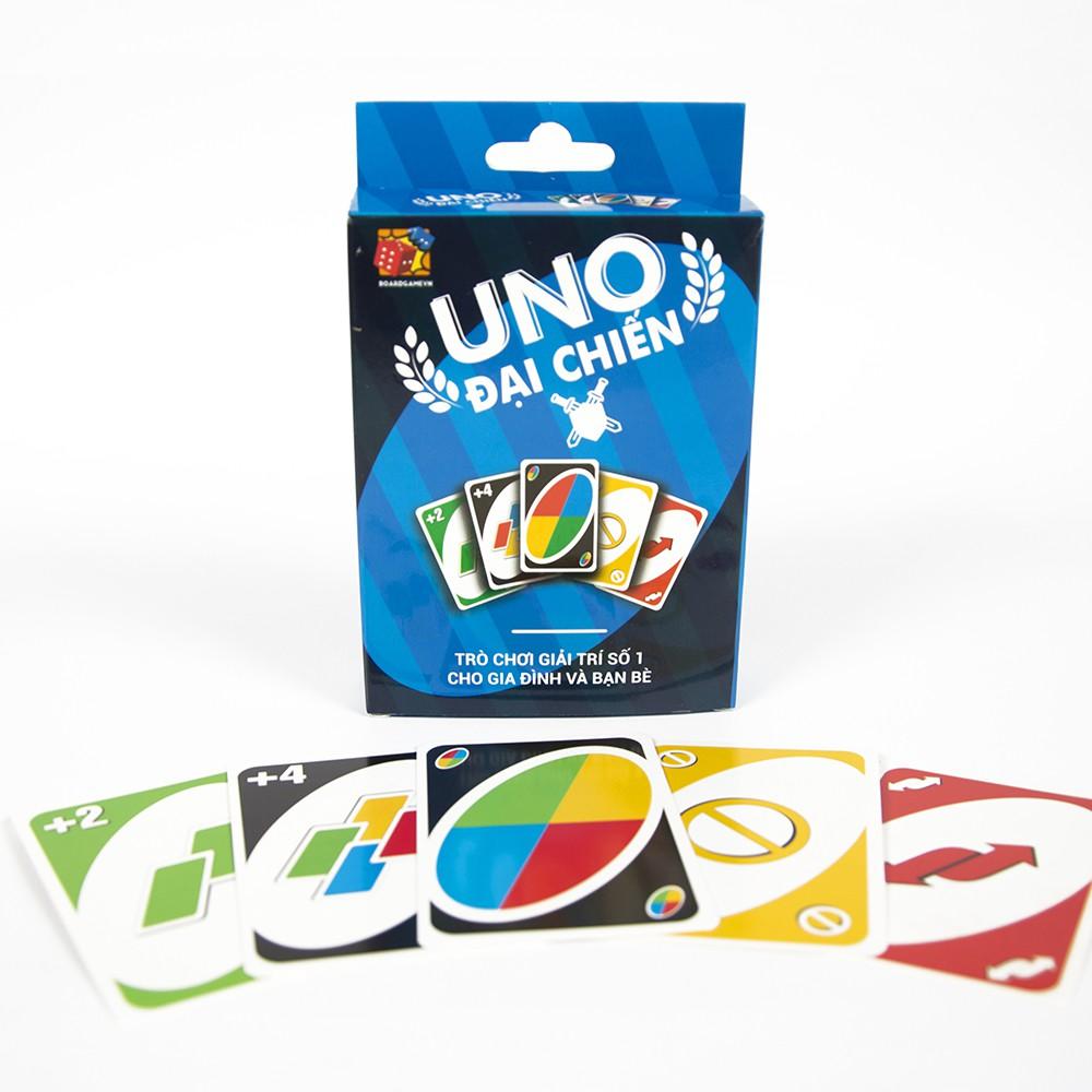 [Nhập TOYBGVN giảm 15%]Bài Uno đại chiến BoardgameVN - màu xanh