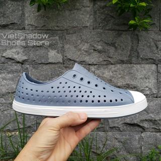 Giày nhựa đi mưa nam nữ - chất nhựa xốp siêu nhẹ, không thấm nước - Màu xám đậm thumbnail