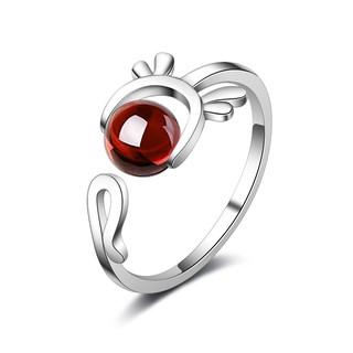 Nhẫn đầu nai hạt châu màu style Hàn cực xinh, bạc ý S925 - N48 thumbnail