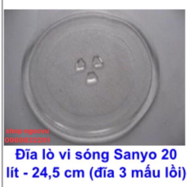 Đĩa thuỷ tinh lò vi sóng Sanyo (Chính hãng)