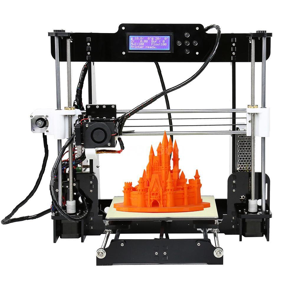 RCC💘Anet A8 High Precision Desktop 3D Printer Kits Reprap i3 DIY Self Assembly MK8 Extruder Nozzle