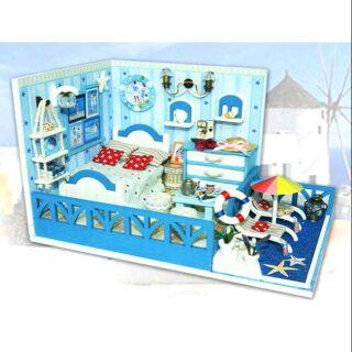 Mô hình nhà gỗ búp bê dollhouse DIY – K004 Sunshine Aegean