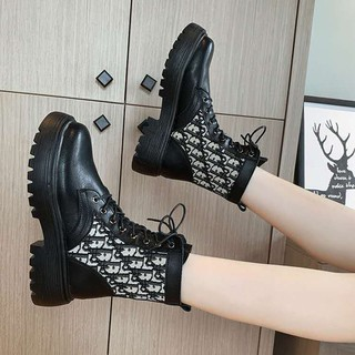 Women's boots net red versatile foreign fashion boots trend ins casual shoes boots