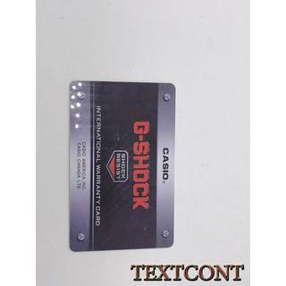 Thẻ Bảo Hành đồng hồ G-Shock cao cấp phiên bản đen phổ thông