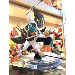 Mô Hình One Piece Zoro Wano tam kiêm phái sắc nét màu tươi xanh chuẩn hình 28Cm thumbnail