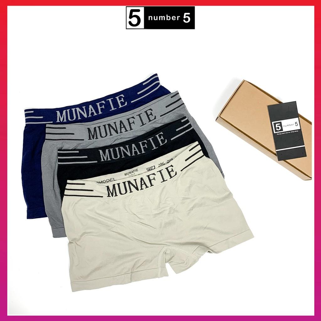Quần sịp nam ️💥 Quần lót nam Munafie free size dệt kim co giãn 4 chiều MN01