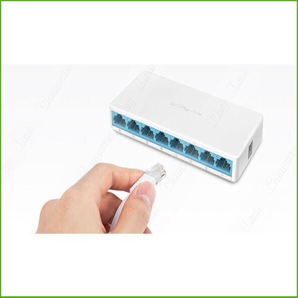 [ Hàng Mới Về] Bộ Chia Mạng 8 cổng Mercusys model MS108 10/100Mbps Giá chỉ 186.250₫