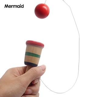 Mermaid Japanese Wooden Kendama Ball Game Balance Skill Educational Funny